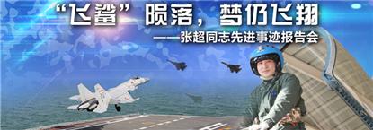 """""""飞鲨""""陨落,梦仍飞翔——张超同志先进事迹报告会"""