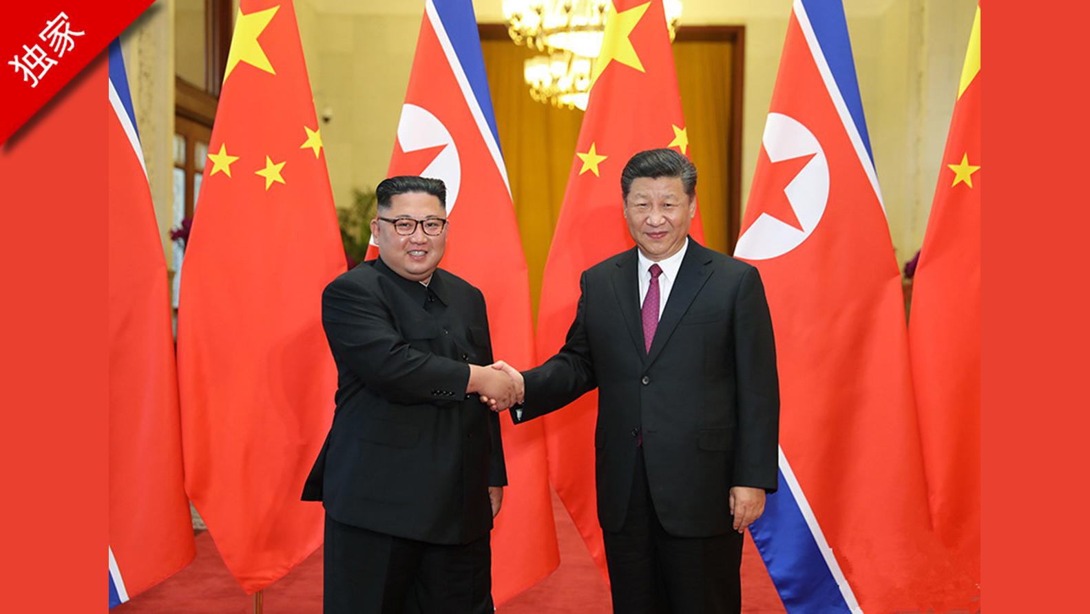 习近平同朝鲜劳动党委员长金正恩举行会谈