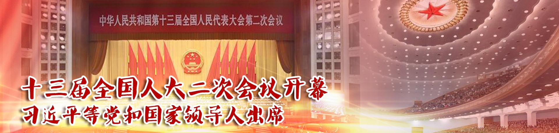 十三届全国人大二次会议开幕 习近平等党和国家领导人出席