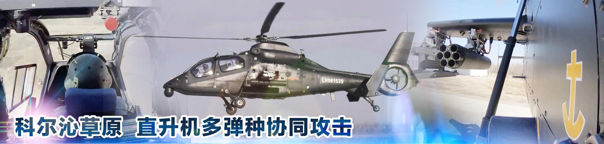 科爾沁草原 直升機多彈種協同攻擊