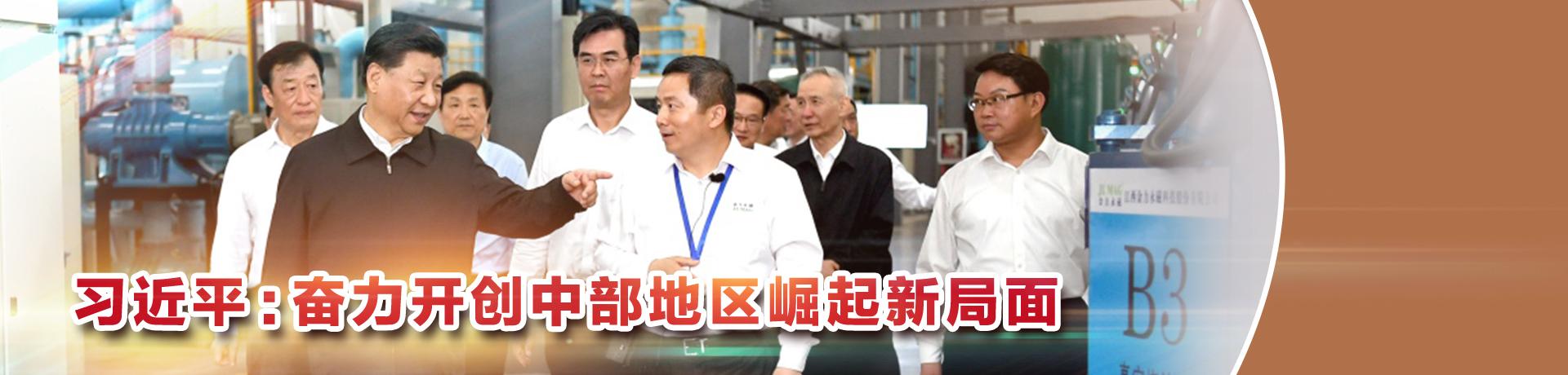 习近平:奋力开创中部地区崛起新局面