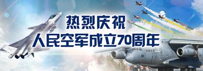 熱烈慶祝人民空軍成立70周年
