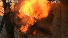 乌东部军工厂发生剧烈爆炸 一栋居民楼燃起熊熊大火