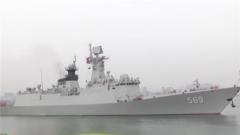 泰国皇家海军训练舰编队结束对南海舰队的访问