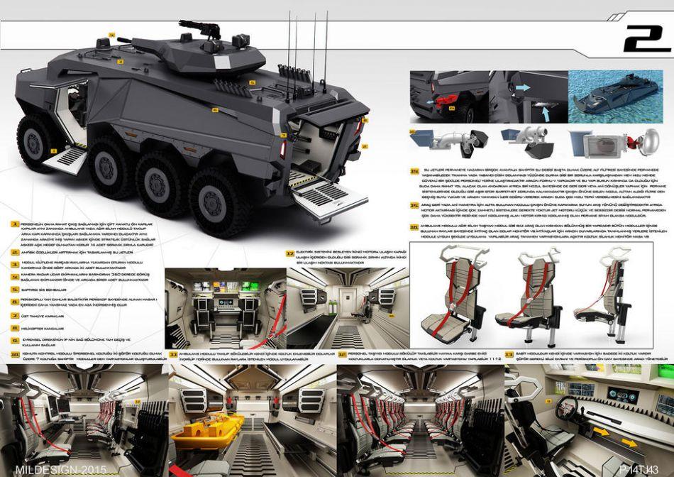 车网站_网站曝光了一型由土耳其公司设计的名为andarkan的新型概念8x8装甲车.