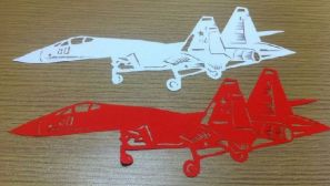 战机DIY:网友自制剪纸版珠海航展表演战机