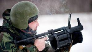 组图:俄军特种部队雪地训练