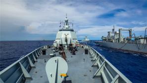 海军大洋演练 美日军舰巡逻机尾随