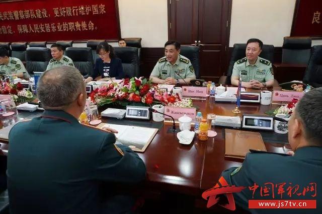 武警部队司令员王宁上将会见哈萨克斯坦国民近卫军司令图片