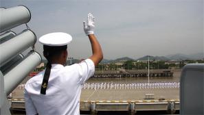 """我海军舰艇编队起航参加""""环太平洋-2016""""演习"""