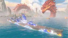 《战舰世界》土豪金坦克遭遇霸气中国红龙战舰
