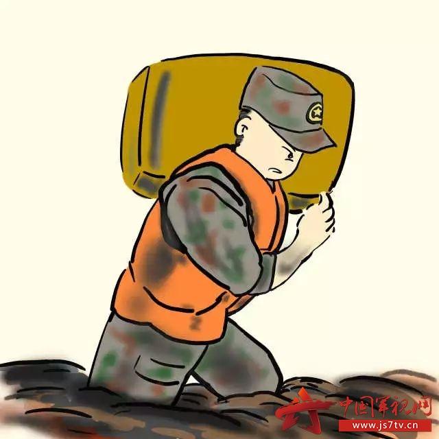 兵眼看兵    我的战友兄弟在防汛救灾前线,冒着暴雨,顶着狂风,用身体图片