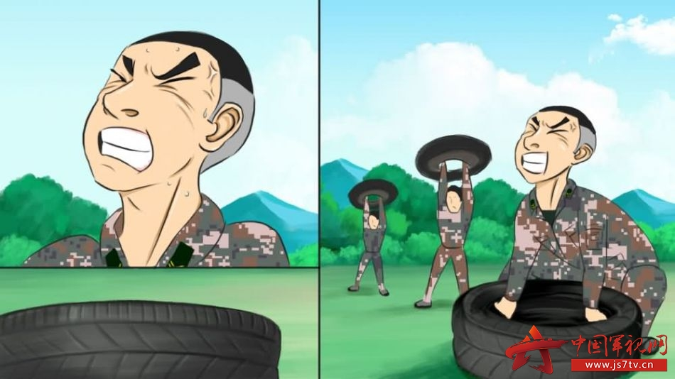 中国卡通军人图片素材