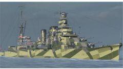 《战舰世界》古鹰 日系5级巡洋舰古鹰加点配件
