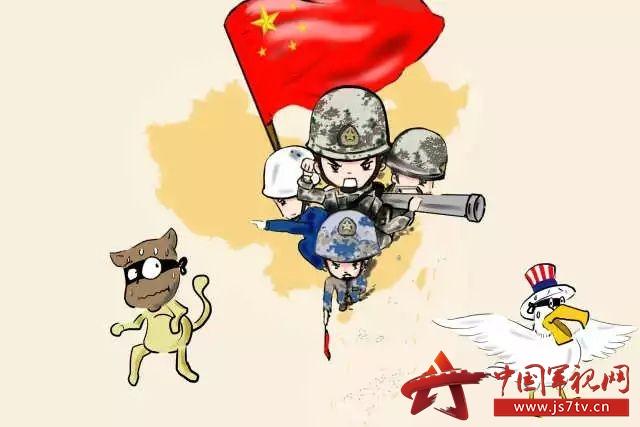 """4幅漫画带你体会军人的""""最美"""" - 中国军视网"""