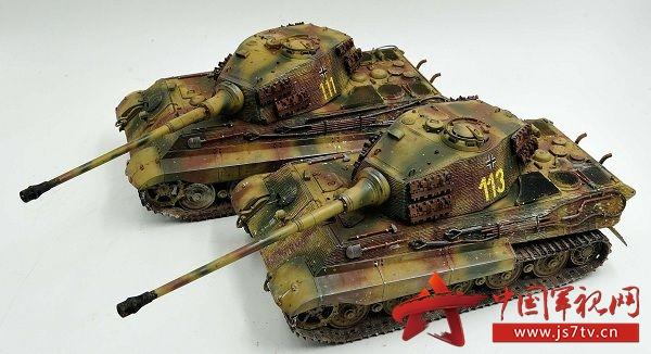 《坦克世界》威龙6303亨舍尔防磁虎王模型