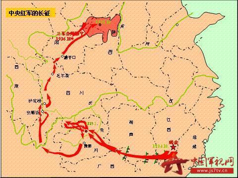 在艰苦卓绝的二万五千里长征中,面对敌人的前堵后追,地图,关系着几万图片