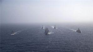 组图:多国海军参加阿曼联合反潜演习