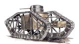 美国一百年前的骨骼坦克