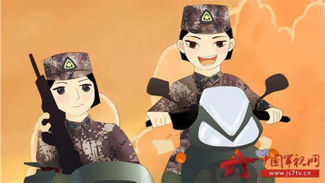 女军人小清新手机壁纸来袭 - 中国军视网