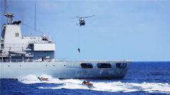 海军第23批护航编队返航途中进行全要素攻防演练