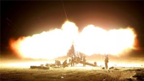 實彈射擊考核 渤海演兵場箭炮齊射