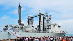 海军第23批护航编队抵达柬埔寨进行为期5天访问