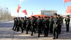陆军某汽车团举行冬季选退对象向团党委表决心仪式