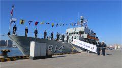 新一代猎扫雷舰东港舰加入海军战斗序列