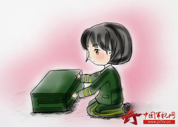 军人卡通头像女