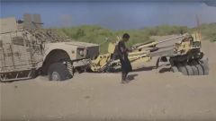 沙特装甲车被胡赛武装打爆