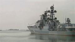 海军723破冰船执行黄渤海冰情调查