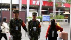 春运第一天 广东武警上勤保安全