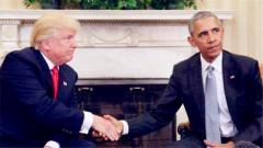 """特朗普""""清算""""奥巴马政治遗产:你的秋千我不要!"""