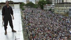 科特迪瓦政治首都军人和警察上街示威