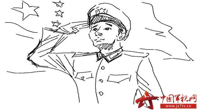 国防简笔画