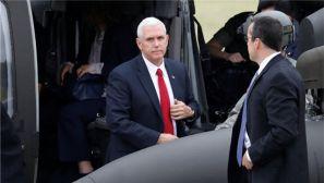 美国副总统访问驻韩美军博尼法斯军营