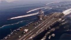 日本舰艇与美国卡尔文森号航母举行联合训练