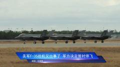 美軍F-35戰機又出事了 軍方決定暫時停飛