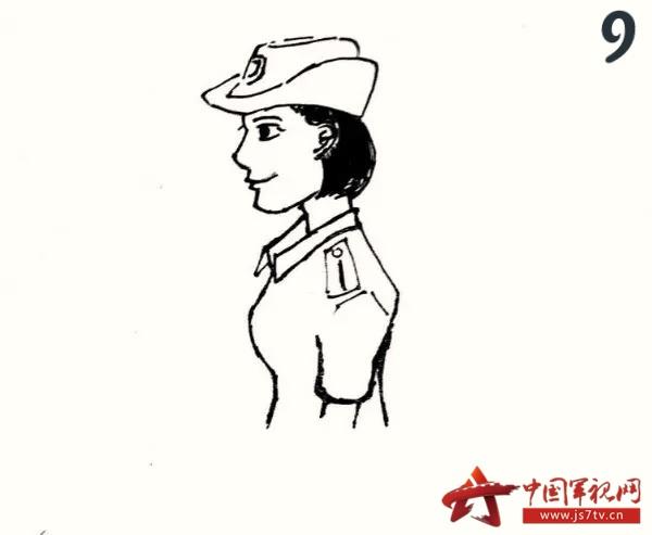 军人简笔手绘图片