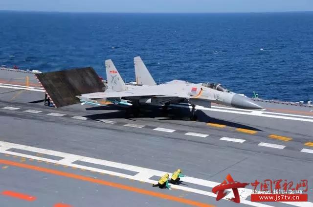 海军航母编队跨区训练 歼-15连续滑跃起飞 2017-07-03 - TLG1955 - TLG1955
