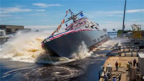 高清图集:美军第15艘濒海战斗舰下水