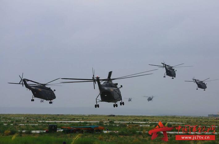 酷图!陆航部队训练大群直8扑面而来 2017-07-11 - TLG1955 - TLG1955