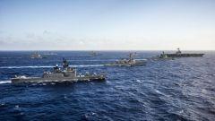 """美日印舉行""""馬拉巴爾""""聯合軍演 3國航母集結印度洋"""