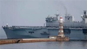 英海军旗舰完成最后航行退役封存 仅服役18年