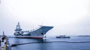 辽宁舰航母编队返回青岛某航母军港