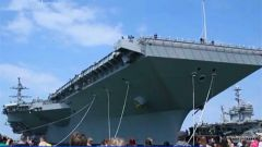 美國福特號航母正式服役 特朗普:敵人會恐怖顫抖