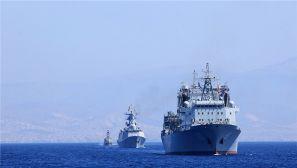 中国海军远航编队结束访问希腊 双方举行海上联演