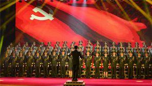 湖北武警:举行庆祝建军90周年歌咏比赛