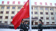 【建军90周年】新疆军区某师举行升旗仪式